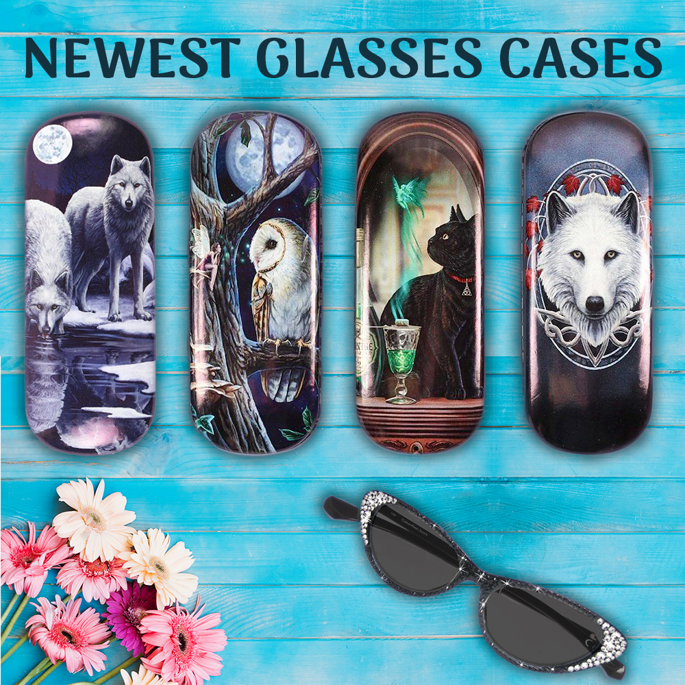 Four new Eyeglass Cases by Lisa Parker!