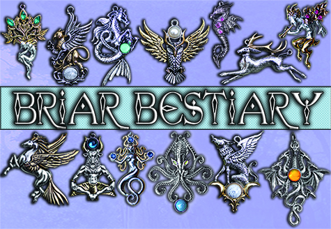 NEW Briar Bestiary Pendants & Brooches